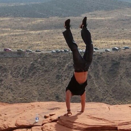 Handstand at Red Rock Canyon